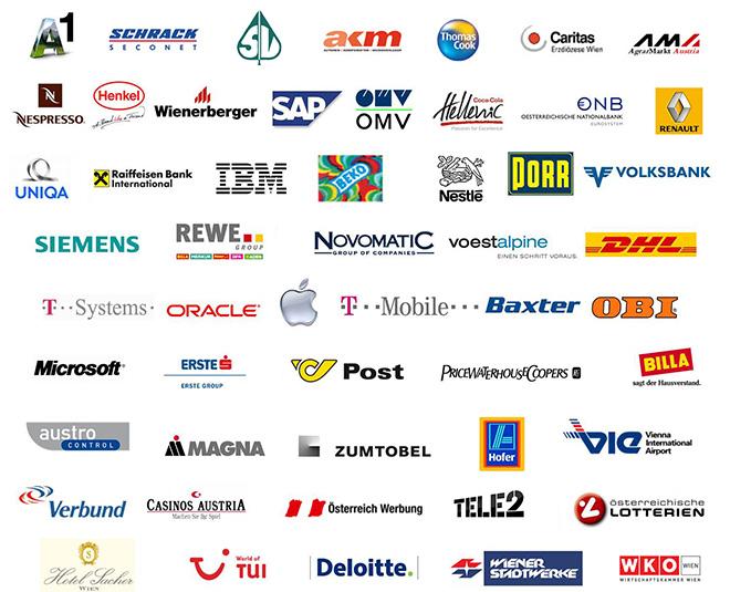 Referenzliste der Personalentwicklung des WIFI Wien