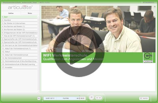 Online-Präsentation der Werkmeisterschule